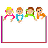 Frame with children Royalty Free Stock Photography