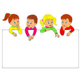 Frame with children Stock Photo
