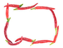 Frame of chili peppers Royalty Free Stock Images