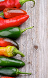 Frame of Chili Peppers Royalty Free Stock Photos