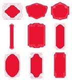 Frame chinês vermelho Ilustração Royalty Free