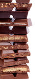 Frame of Chocolate Blocks Stock Photos
