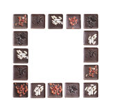 Frame of chocolate Royalty Free Stock Photography