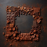 Frame of chocolates Royalty Free Stock Photo