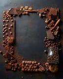 Frame of chocolates Royalty Free Stock Photos