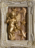Frame christmas angel Royalty Free Stock Images