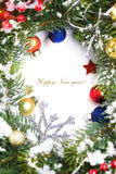 Frame from christmas branch Stock Photography