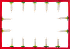Frame of Christmas candles Royalty Free Stock Photography