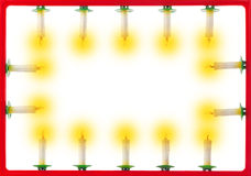 Frame of Christmas candles Royalty Free Stock Photo