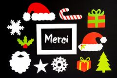 Frame, Christmas Decoration Accessories, Merci Means Thank You