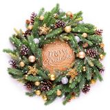 Frame. Christmas decoration. Spruce branches and Christmas-tree decorations. stock photos