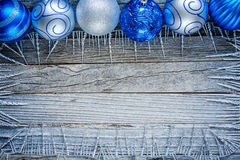 Frame of Christmas Decorations Stock Photos