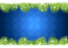 Frame Christmas fir and snow Royalty Free Stock Images