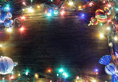 Frame of Christmas lights Royalty Free Stock Images