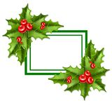 Frame christmas mistletoe 10eps Royalty Free Stock Photos