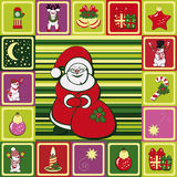 Frame christmas pattern Royalty Free Stock Photo