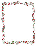 Frame of Christmas Ribbons and Bows Stock Photos