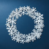 Frame of Christmas snowflakes Royalty Free Stock Images