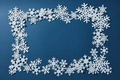 Frame of Christmas snowflakes Royalty Free Stock Photos
