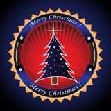 Frame with Christmas tree Stock Image