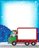 Frame with Christmas van theme 2 Stock Photo