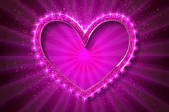 Frame cinema heart. Pink version Stock Photography