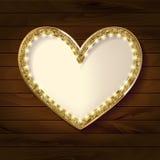 Frame cinema heart on wooden background. Vector illlustration Stock Photos