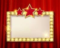 Frame cinema stars. Stock Images