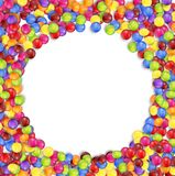 Frame of circle colored candies Stock Photography