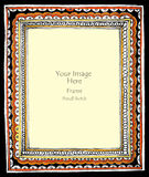 Frame circle haft color Royalty Free Stock Image