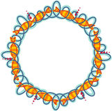 Frame circle waves and fish Stock Images