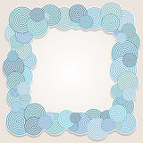 Frame of circles Stock Photo