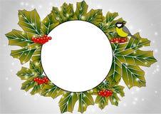Frame circular das folhas Imagens de Stock