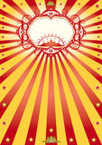 Frame circus poster. A new circus poster with sunbeams Royalty Free Stock Photo