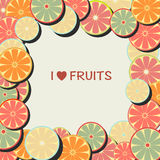 Frame with citrus fruits Stock Photo