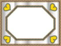 Frame clássico com forma do coração Ilustração Stock