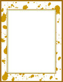 Frame with clay splatter. /border Royalty Free Stock Photography