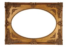 Frame with clipping path. Antique frame with clipping path Royalty Free Stock Photography