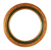 Frame with clipping path. Round antique frame with clipping path Royalty Free Stock Image