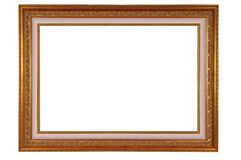 Frame with clipping path. Antique frame with clipping path Royalty Free Stock Image