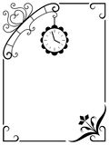 Frame with a clock. Royalty Free Stock Photography
