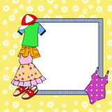 Frame with clothes Royalty Free Stock Photos