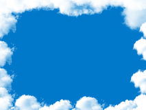 Frame from clouds Royalty Free Stock Photography