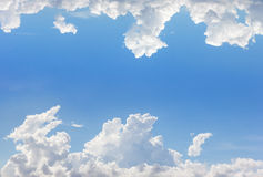 Frame of clouds with blue sky background Stock Photo