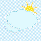 Frame with clouds and sun Stock Image