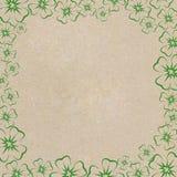 Frame of clover leaves Stock Photo