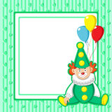 Frame with clown. Royalty Free Stock Photos