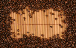 Frame with coffee Stock Photos