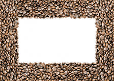 Frame of coffee. Isolated on white royalty free stock photo