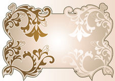 Frame-coffee. This is background with an element of a flower ornament Royalty Free Stock Photography